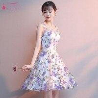 TANYA BRIDAL New Flower decoration Simple Homecoming Dress 2019 A Line Short Tulle Illusion Graduation Dresses JQ453