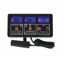 7in1 Aquarium Water Quality Monitor Multi Functional Digital ORP pH RH Conductivity EC CF TDS(PPM) TEMP Electrode Meter Backlit
