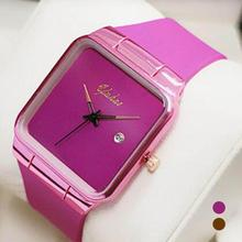 Fashion Luxury Brand Women Watches Quartz Movement Large Dial Calendar Gold Rose Wrist Watch Calendar Rubber Watchband Horloge