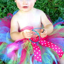 Baby Girl Rainbow Skirts Hot Selling Pettiskirt  bowknot Tutu Handmade party clothes 2-10 Years