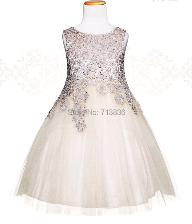Girls summer  dress summer baby princess tutu children clothes kids tulle party/wedding/dance clothing  1AA504DS-49R 2016 summer baby clothes kids girls tutu princess dress children girls show white lace party bow dresses for girls wedding