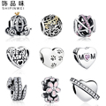 18 Styles 100% 925 Sterling Silver European Daisy,Snake,Paw Print Heart Charms Fit Pandora Bracelet Original DIY Beads Jewelry