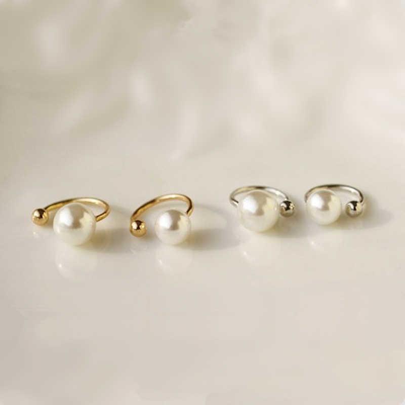 Moda Korea sztuczna perła kolczyki ucha niewidoczne U kolczyki nie przebite ucho dziewczyny prezent urodzinowy