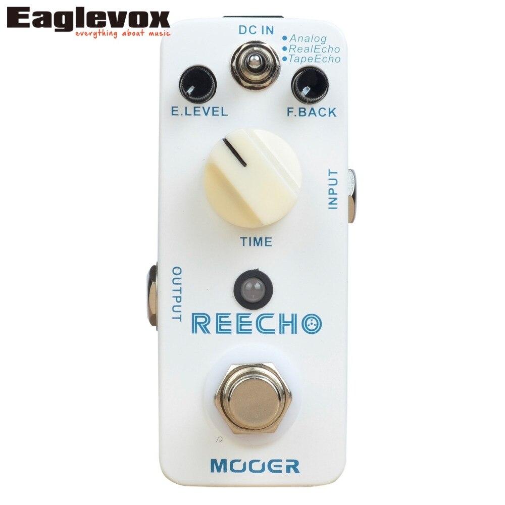 Mooer Reecho Delay Electric Guitar Pedal Effect True Bypass Effects MDL2 mooer blue faze fuzz pedal electric guitar effect pedal true bypass mfz1
