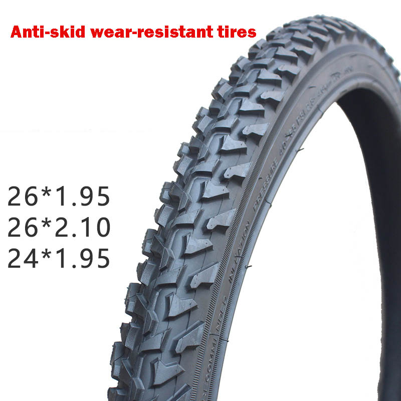 Mountain Bike Tyre <font><b>24</b></font> 26*<font><b>1.95</b></font> 2.1 Inch Thick Bicycle Tires Mountain Bike Bicycle Tire Thornproof Oversee Ultra-light image