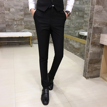 Fashion Men's Casual Trousers, Good Quality Men's Business Pure Color Trousers