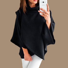Plus Size Capes Cloaks Mantle Hoodie Poleron Mujer 2019 Pullover Asymmetrical Irregular Hoodies Winter Pullover Sweatshirt Women(China)