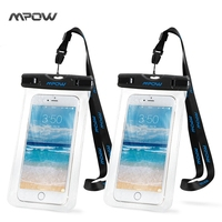 Mpow 2 Packes Waterproof Phone Case Universal Floating Dry Bag Pouch For Outdoor Activities For IPhone