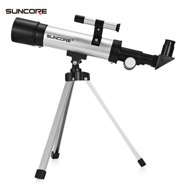 SUNCORE 2018 F36050 Outdoor Zoom Monocular Telescope Camera Space Astronomical Telescope with Tripod Phone Holder Spotting Scope