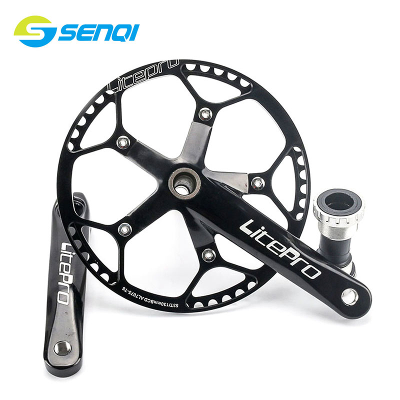 Folding Bike Road Bicycle 45T/47T/53T/58T*170mm Chain Wheel Crank Axis Suit Lightweight Bikes Crankset CZY001 road bicycle crankset 7 8 9speed folding bike crank chain wheel 34t 50t cnc aluminum alloy gear tooth disc with bottom bracket