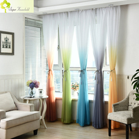 Oferta especial moderna limitada cortinas dormitorio cortinas macio sheer sala de estar tule janela cortina para o quarto