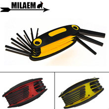 1pc Archery Allen key Set Hex Wrench Steel Multifunctional 9 in 1 Folding Compound Bow Outdoor Shooting Accessories
