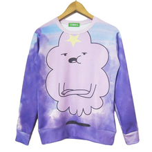 New lumpy space princess sweatshirt purple cloud beautiful sweats women/men casual hoodies adventure time clothes Drop Shipping