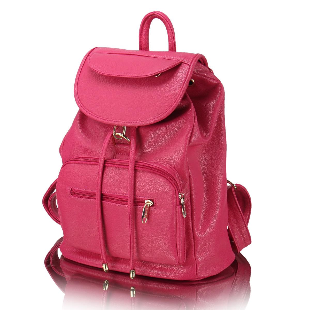 Women Leather School Backpack Rucksack Satchel GirlsHandbag Satchel Shoulder Bag