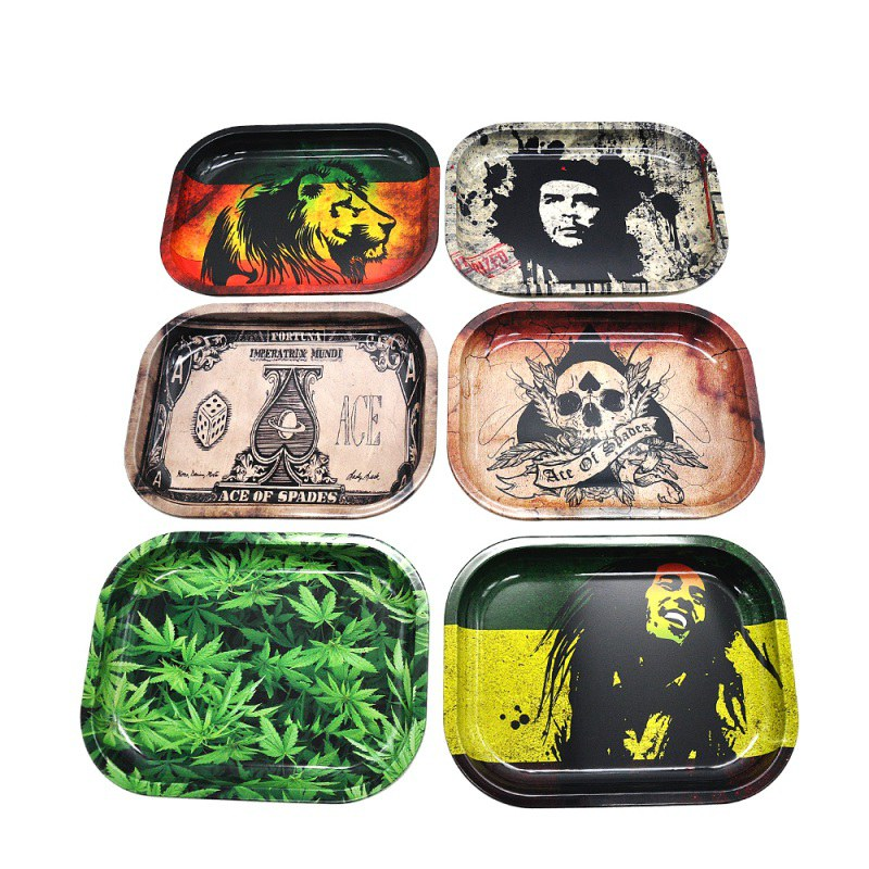 Tobacco Rolling Tray Storage Plate Discs For Smoke Bob Marley Weed Herb Grinder Cigarette Container Tray Tobacco Holders 2019 end table
