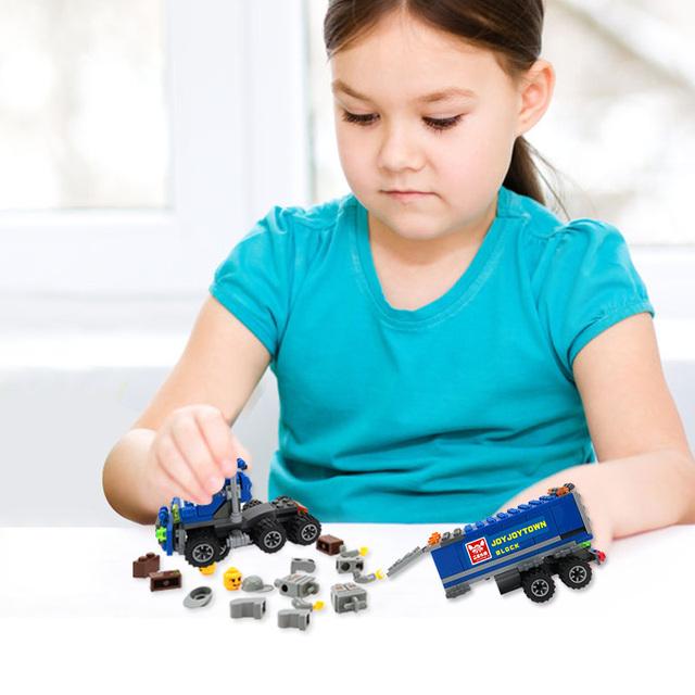 Engineering Series Kids Blocks Truck DIY Toy (163 pcs)