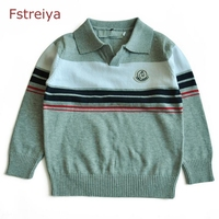 Baby Boys Christmas Sweaters Turn Down Collar Children Pullover Clothing Boy Winter Coat Kids Sweaters Toddler