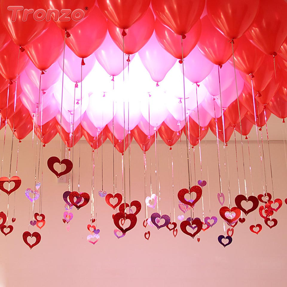 Tronzo 100pcs Wedding Balloons Pendant Sequins Birthday Party ...