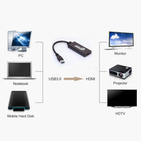 USB 5 Gbps 3.0 כדי HDMI HD 1080 P וידאו כבל מתאם ממיר למחשב נייד מחשב Win 7/8 הטלוויזיה HD סיטונאי