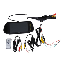 Promotion! LCD Monitor Car Monitor 7 inch Rearview Mirror + Wireless Rear Vision Camera