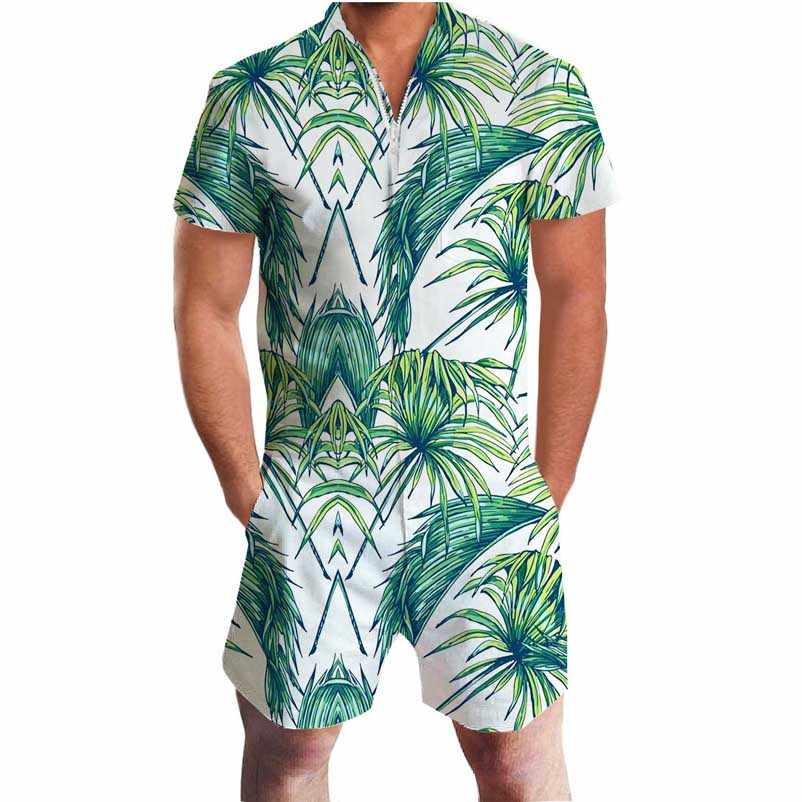 929e02a1c4 ... 2019 Funny Printing Print 3D Rompers Men Jumpsuit Playsuit Harem Cargo  Overalls Summer One Piece Casual