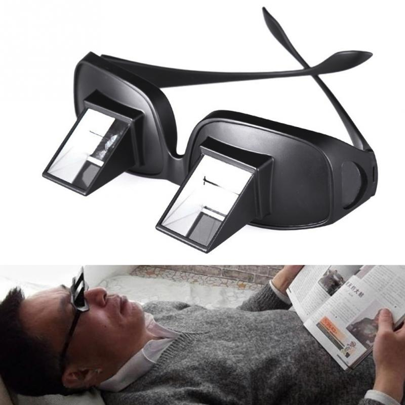 Popular Lazy Man Glasses Horizontal Type Reflective Glasses Practical Lied To Watch Tv Newspaper Periscope Apparel Accessories Men's Reading Glasses
