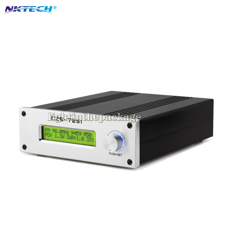 лучшая цена Professional CZE-T251 0-25W adjustable FM stereo transmitter broadcast radio station NJ connector