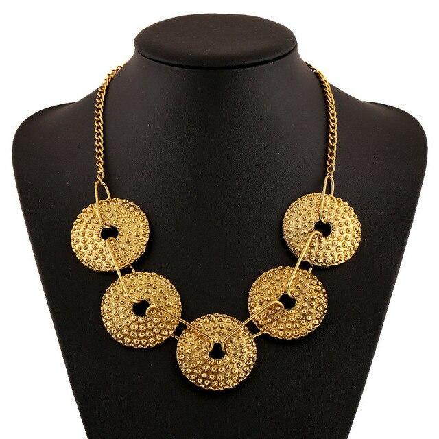 Женское Ожерелье в ретро стиле этническое ожерелье с геометрическим