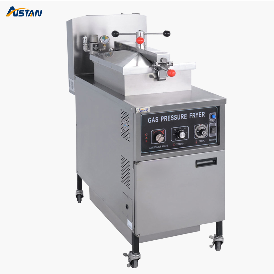MDXZ25 Gas Free Standing Pressure Fryer Machine Vertical Deep Oil Fryer for commercial use