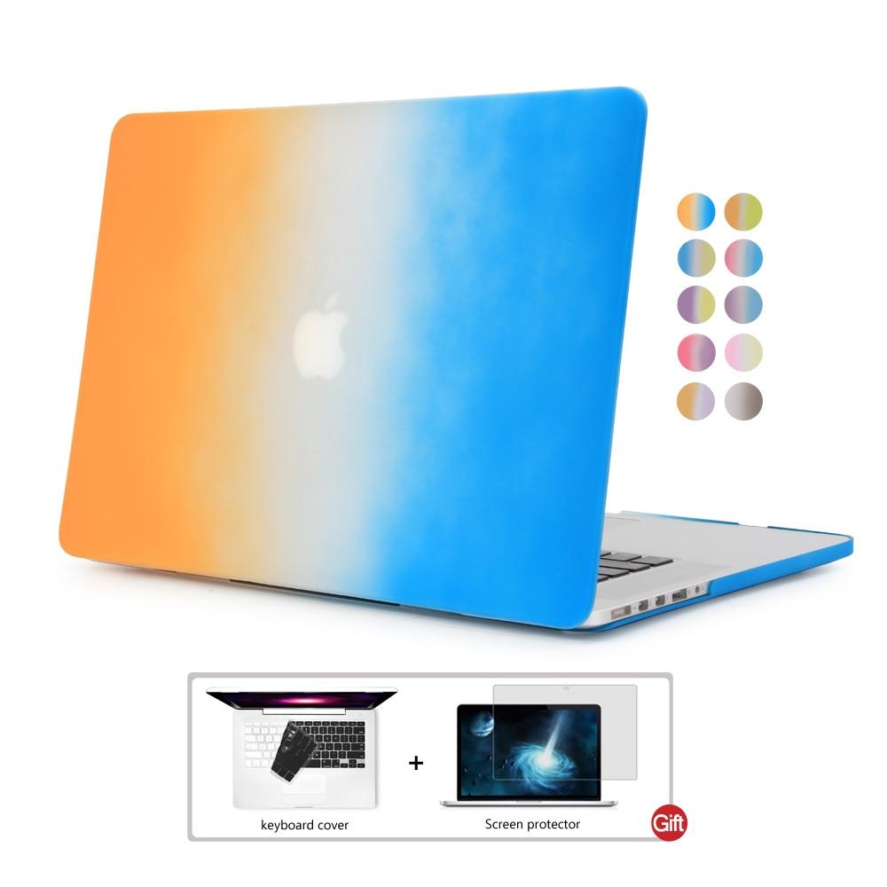 Для macbook pro retina 13 случае DOWSWIN Радуга градиент ударопрочный pc чехол Хороший протектор для macbook retina 13 модный стиль ...