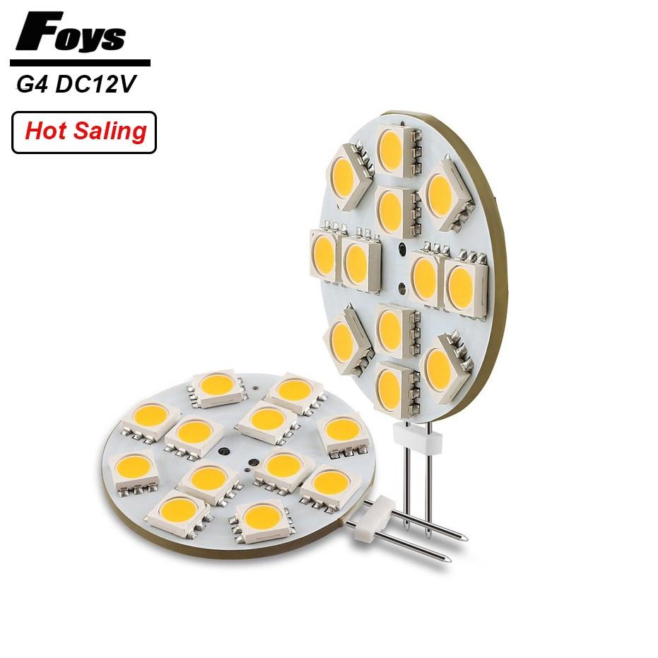 G4 LED Round Range Hood Bulb 12v SMD5050 6/9/12/24 leds Car-styling LED Boat Light White / Warm White Bulb Lamp High brightness g4 led bulb
