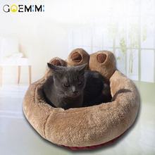 Warm Cat Bed Cave Paw Shape Pet Dog House Soft Puppy Cushion Mat Sofa 2019