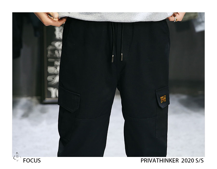 Privathinker Cargo Pants Men 2020 Mens Streetwear Joogers Pants Black Sweatpant Male Hiphop Autumn Pockets Trousers Overalls 61