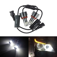 ANGRONG 2x 30W LED Angel Eye Halo Marker Light H8 Bulb For BMW E90 E92 E60 E82 X1 X5 X6(CA212)