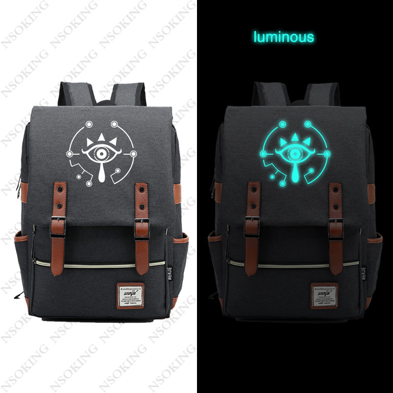 The Legend of Zelda Backpack Fashion Game vintage luminous Travel Backpacks New Personalized Anime Student Canvas