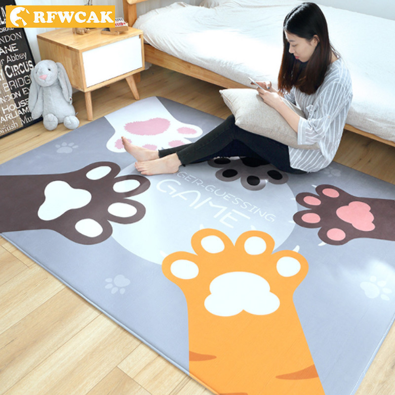 RFWCAK tapis de bande dessinée pour salon chambre Tapete tapis de sol anti-dérapant enfants ramper couverture zone tapis enfants chambre décoration