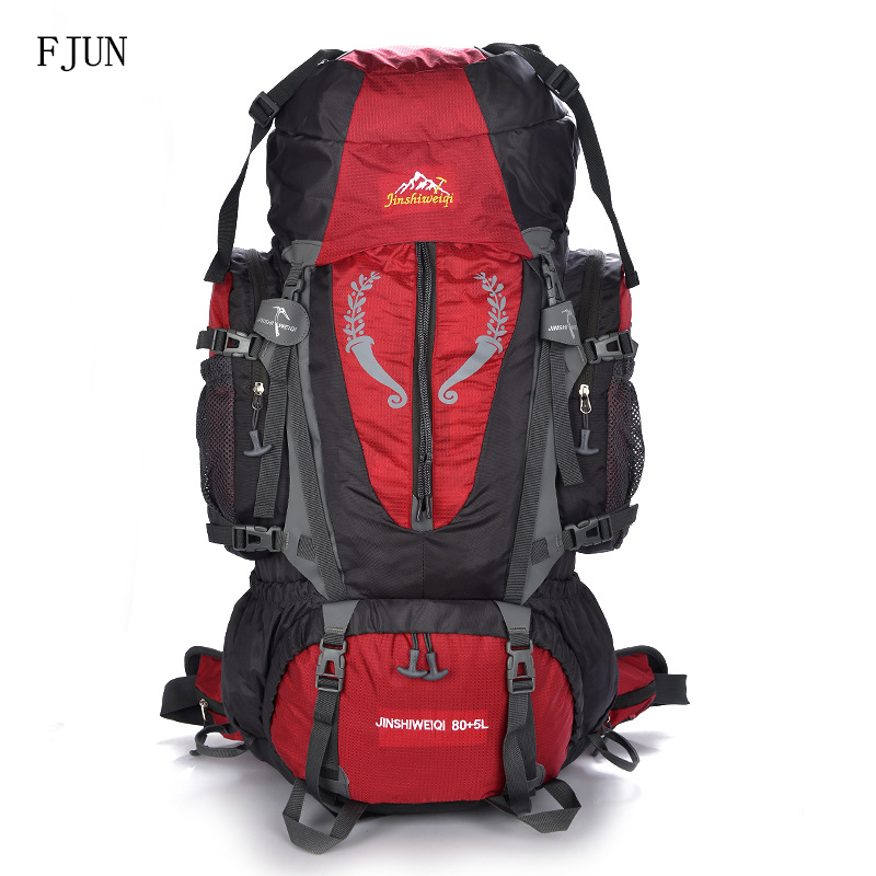 FJUN 70L Large Capacity Outdoor Nylon Waterproof Backpack Bag For Man Women Camping Hiking Mountaineering Sport Bags FK 49 виброплита бензиновая tsunami со 70l