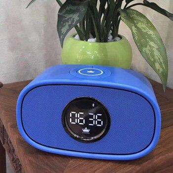 Original KINGONE K66 Full function Bluetooth 16W Loud Speaker with  Alarm clock BT4.2 FM AUX USB TF Card Handsfree Mic