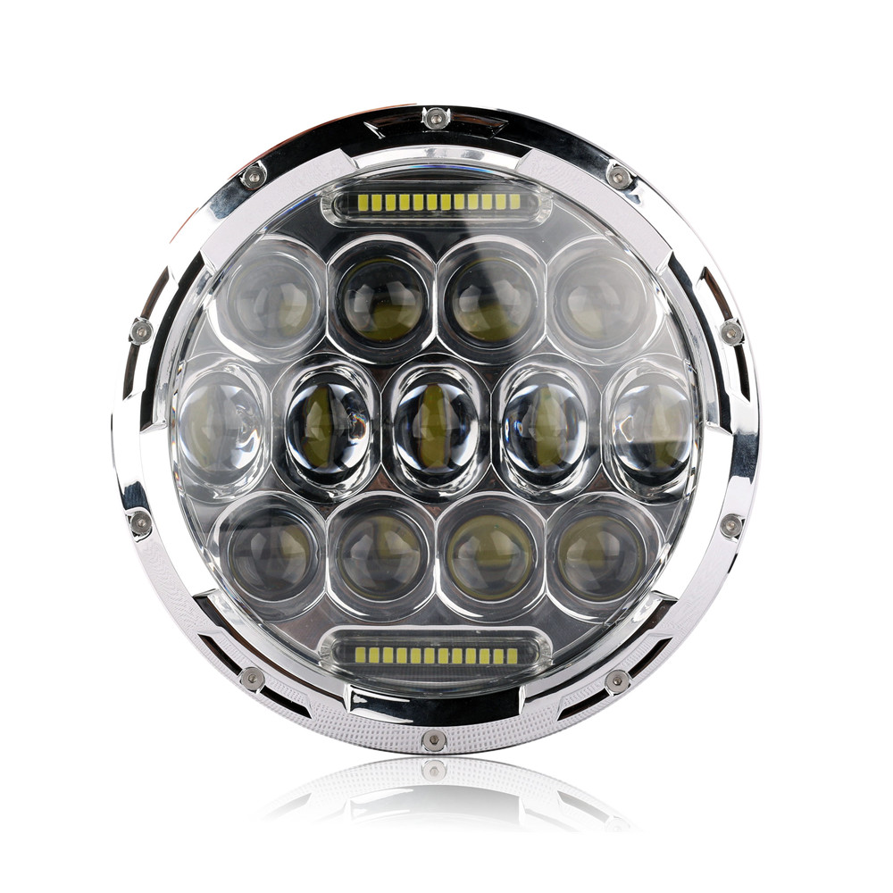 1x Chrome 7 75W Round LED Headlight Hi/Low Beam Head Light with Bulb DRL for Jeep Wrangler TJ LJ JK CJ-7 CJ-8 Scrambler Harley 7inch 75w round led headlight 7500lm hi low beam head light with bulb drl for wrangler tj lj jk cj 7 cj 8 scrambler harley