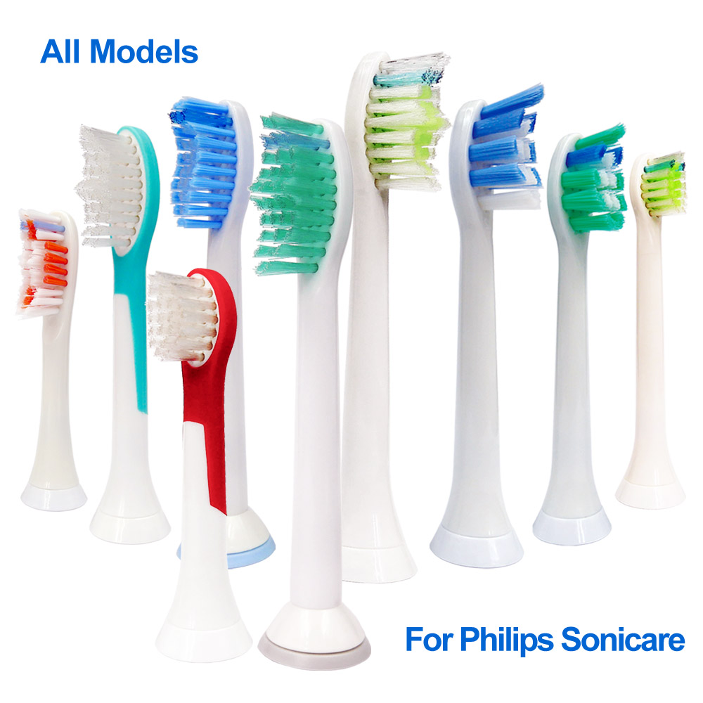 4Pcs Replacement Toothbrush Head For Philips Sonicare Tooth Brush Attachment Tip Heads Nozzle hx6064 hx9024 hx6014 Diamond Clean image