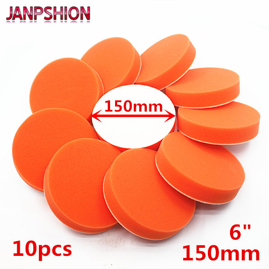 JANPSHION 10PC 150mm Gross Polishing Buffing Pads 6