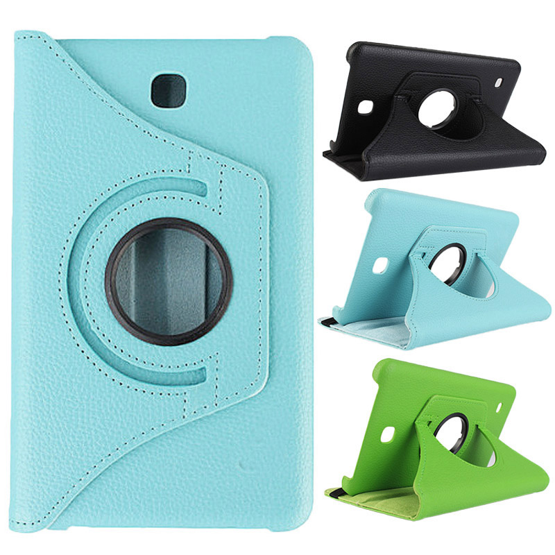 360 Degrees Rotating PU Leather Smart Shell Cover for Samsung Galaxy Tab 4 7.0 Inch(T230) Tablet Protective Case -fly SL