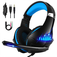 Beexcellent GM 5 Wired Gaming Headset Best casque Deep Bass Stereo Gamer Headphone with Mic LED Litht for Computer PS4 PC Gamer