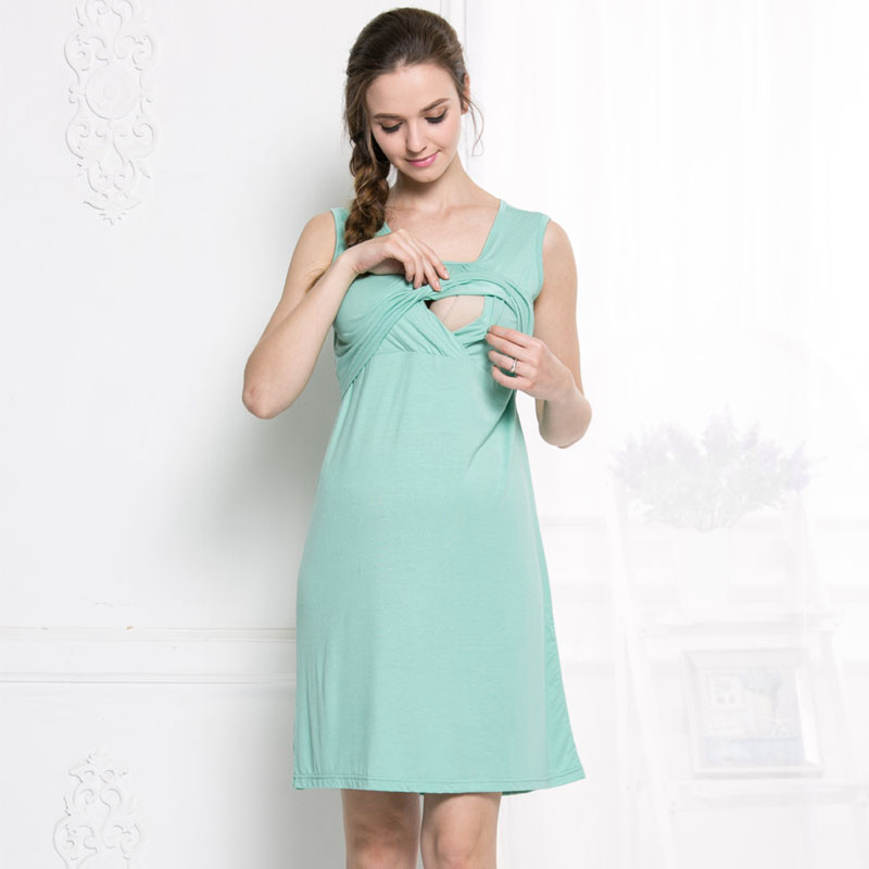 Modal Maternity Nursing Dresses Breastfeeding Vest Clothes For Pregnant Women Sleeveless Feeding Pregnancy Dresses Clothing