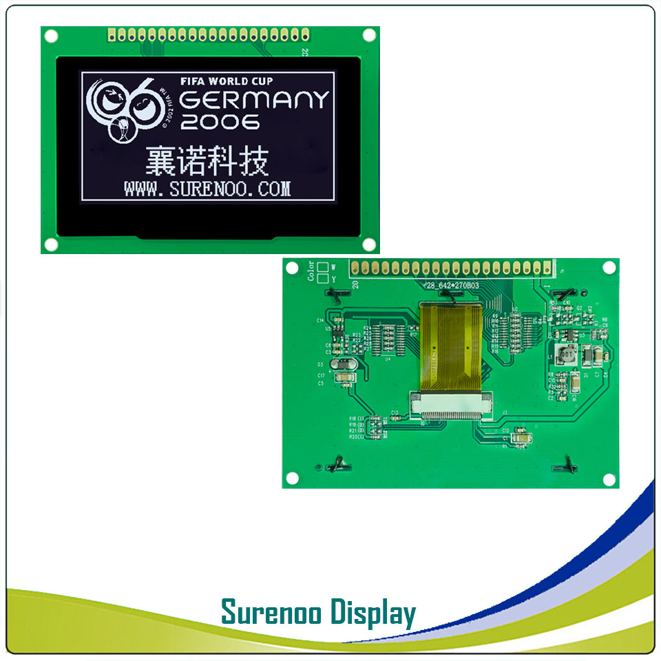"""Image 2 - Real OLED Display, 2.7"""" 128*64 12864 Graphic LCD Module Display Screen LCM Screen SSD1325 Controller Support Parallel SPILCD Modules   -"""