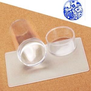 Image 3 - Biutee прозрачный стемпинг нового стиля силиконовый штамп для ногтей скребок с топом прозрачная 2.9 см ногтей штамповка инструменты для маникюра