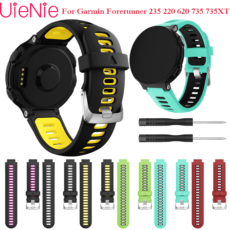 Soft Silicone Bracelet For Garmin Forerunner 735XT 735/220/230/235/620 Smart Watch Wristband Sports Strap With Removal Tool Band