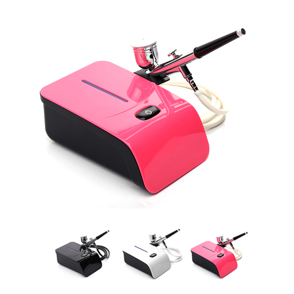 Airbrush Kit With Compressor 5 Gears Aerografo Kit For Face Paint Cake Coloring Airbrush Makeup Akvagrim Tool цена