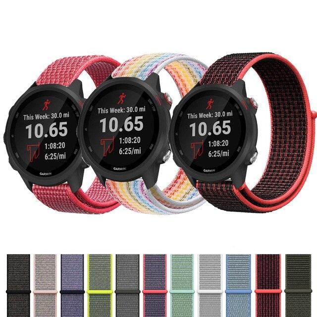 ניילון לולאה רצועת עבור Garmin Forerunner 245 M/Garmin vivoactive 3 Forerunner 645 חכם שעון יד צמיד רצועת השעון