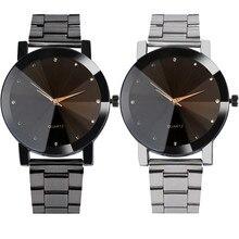OTOKY Для мужчин часы люксовый бренд Модные женские туфли из нержавеющей стали, задняя крышка аналоговые сплава кварцевые наручные часы
